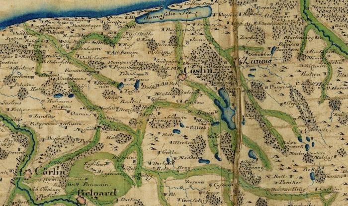 Cöslin Karte 1775