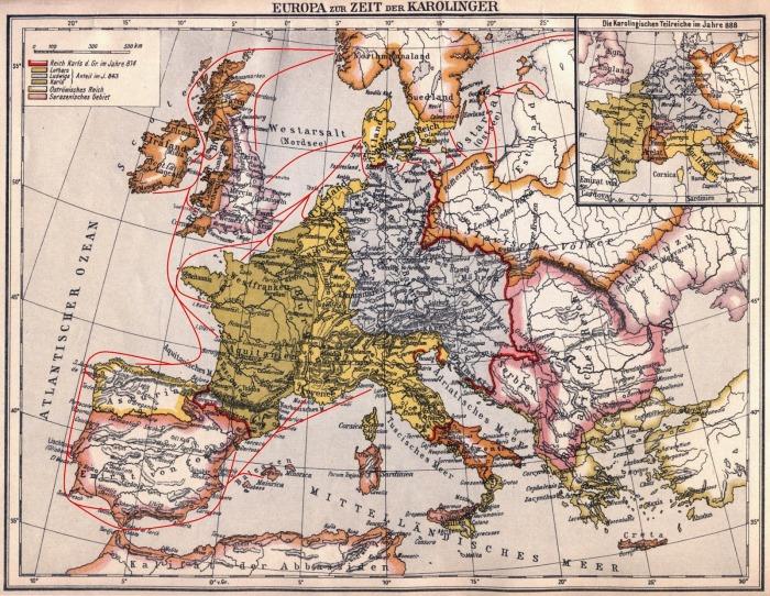 Europa zur Zeit der Karolinger Wikinger Ängriffe