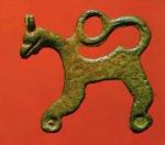 Griffin pendant ex Staraya Ladoga bronze L 3 cm State Hermitage Museum
