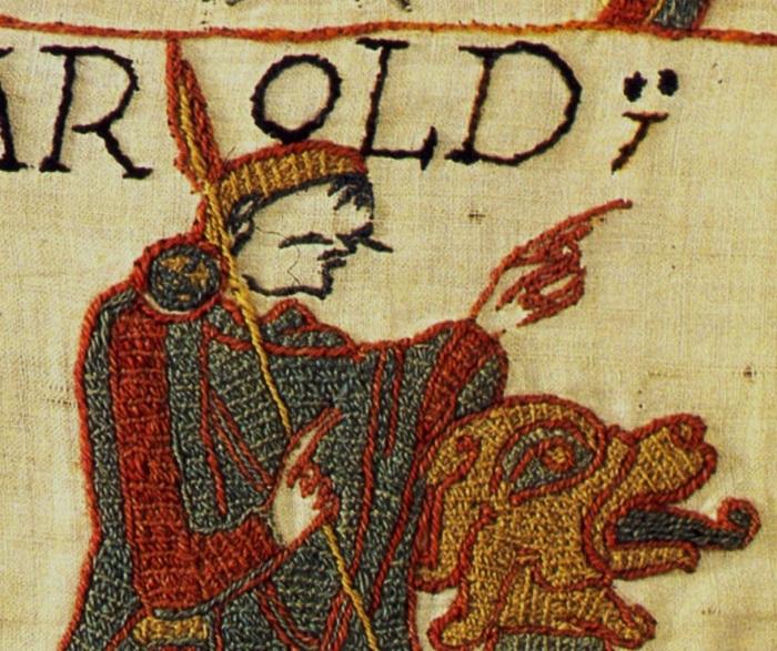 Tapestry Bayeux stem stitch