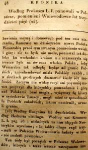 Kronika Prokosza – Rozdział III - 22