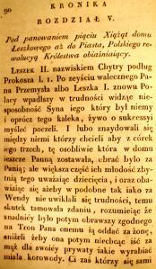 Kronika Prokosza – Rozdział V - 1