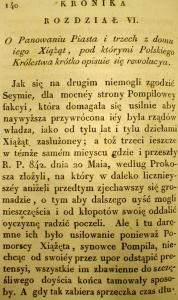 Kronika Prokosza – Rozdział VI - 1