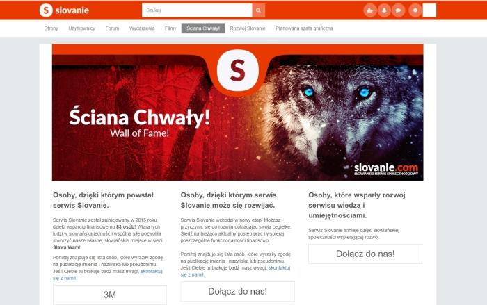 Slovanie – portal społecznościowy dla Słowian.